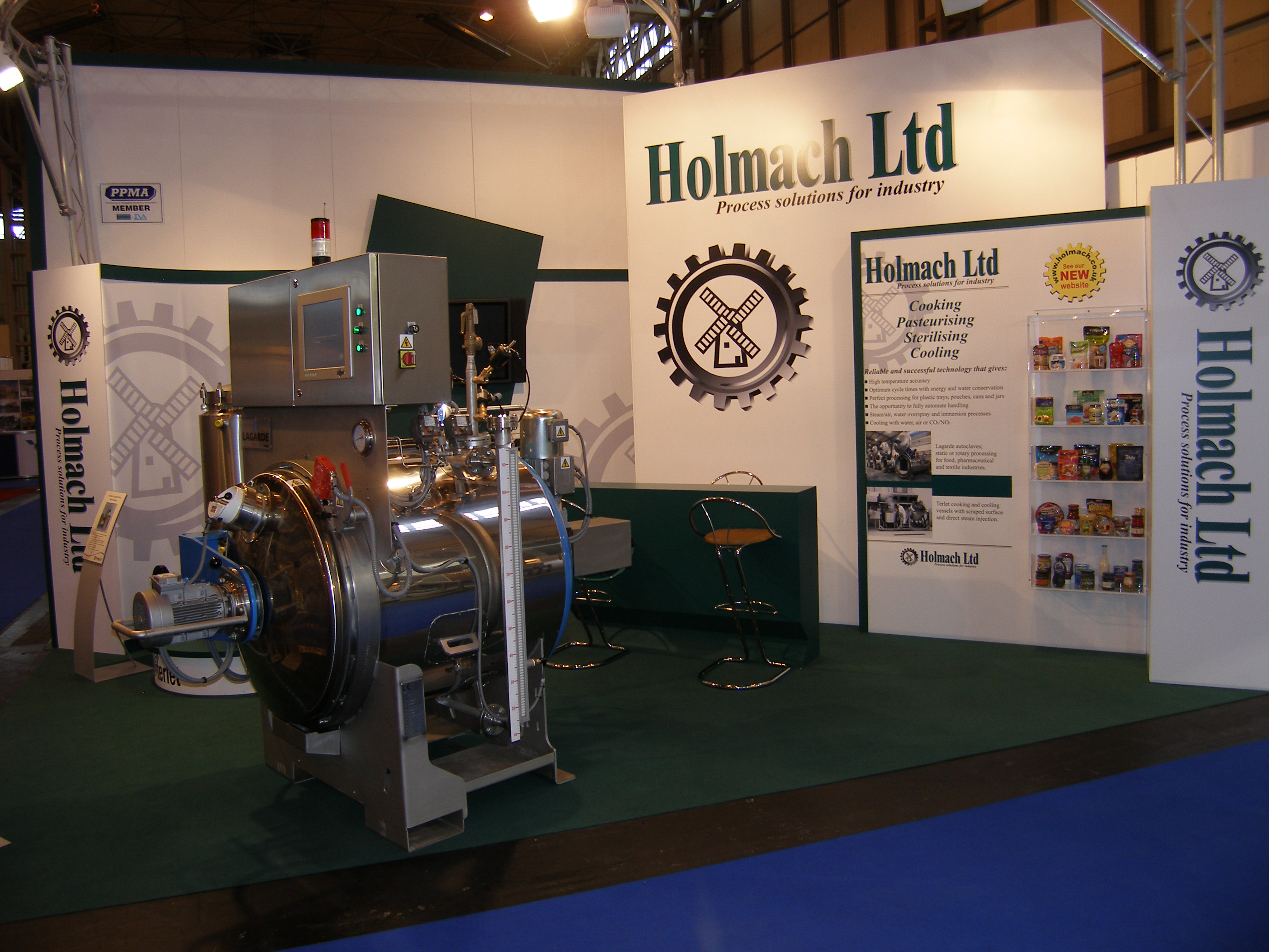 Rotary retort on our PPMA stand in 2012.