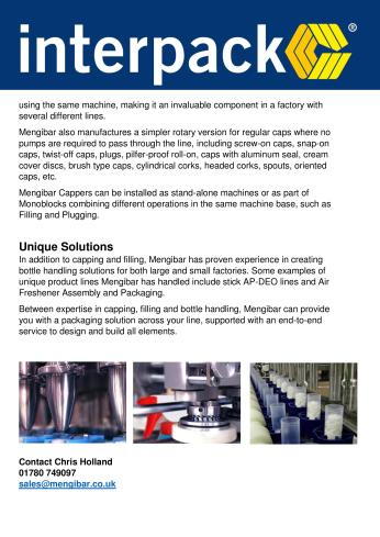Mengibar UK - Interpack information sheet 2